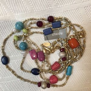 NWT Chico's Long Double Stand Necklace & Lots More